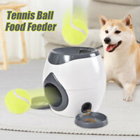 New Pet Dog Training Fetch Machine Ball Launcher and Feeder 2 In 1 for Dogs