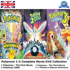 Pokemon Series 1 - 3 Complete Movie Collection 1 2 3 Pikachu's Vacation New DVD