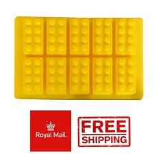 Mini Blocks Shape Ice Bricks Cube Cubes Silicone Mold Mould Lego Type Wax Melts