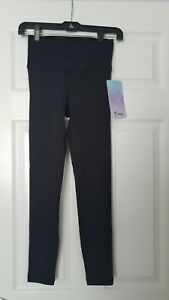 NEW ivivva by Lululemon Rhythmic Tight Black Leggings Yoga Pants Size 8