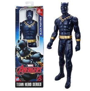 BLACK PANTHER 12inch Action Figure Titan Hero Series Marvel Hasbro Gold Avengers