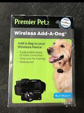 NEW PREMIER PET WIRELESS ADD A DOG COLLAR WATER PROOF - Open Box!