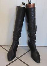 ~ WOW modische  STIEFEL Leder, Gr. 39, Farbe schwarz