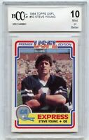 1984 Topps USFL #52 Steve Young Rookie Card BGS BCCG 10 Mint+