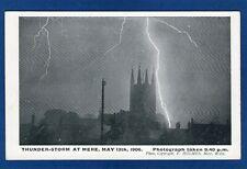Thunderstorm Lightning Mere 1906 pc unused  F Holmes W992