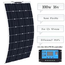100 Вт гибкая солнечная панель + контроллер для Car Caravan кемпинг 12 В зарядное устройство