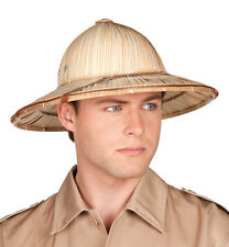Ladies Mens Safari Jungle Explorer Pith Hat Fancy Dress Costume Outfit Accessory