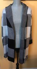 Calvin Klien Ladies Black/white Cardigan Sweater Size Medium