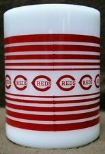 CINCINNATI REDS Baseball Vintage FEDERAL USA heatproof MILK GLASS Coffee Cup Mug