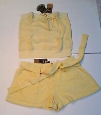 Juicy Couture size XS Terry set Tube Top and Shorts
