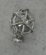Sterling Silver Charm-Full Figure Table Fan - Moveable                sku1174