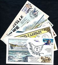 "(8) DIFFERENT COLLINS ""AIRPLANES"" FDC CACHET HAND PAINTED COLLECTION BQ4540"