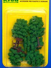 Alberi da giardino per modellismo verde chiaro 5 pz. H.cm. 8,5  HO - 1/87 Krea