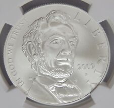 NGC MS70 2009 P Lincoln Bicentennial Silver Dollar PERFECT GRADE See Pics 6589