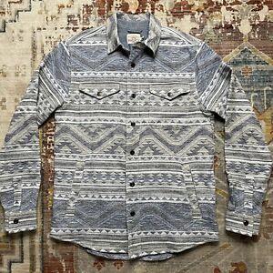 Faherty Durango Twilight Glacier CPO Shirt Jacket Overshirt S / M $188 RRL