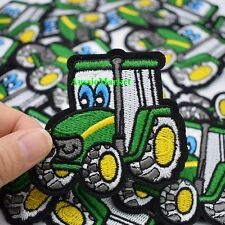 1 x tractor patch boys girls jeans dress shirt clothes fabric farmer iron sew on