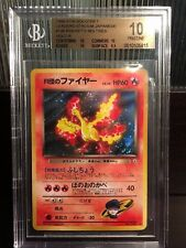 POP 1! BGS 10 PRISTINE Japanese Rocket's Moltres Holo Gym Heroes/Leaders Pokemon