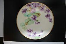 """Richard Ginori 9"""" Plate Studio Hand Painted Signed B. Danti Purple Violets Gold"""