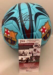 David Villa New York City FC signed F/S Barcelona Barca Soccer Ball Spain 2 JSA