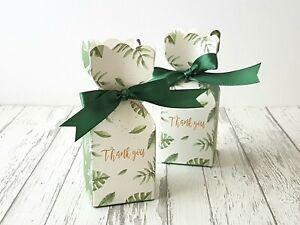10x Thank You Favour Box Garden Wedding Bomboniere Baby Shower Box Chocolate