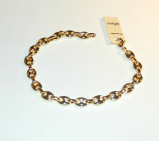 BRACELET MAILLE GRAIN DE CAFE PLAQUE OR  NEUF (3289)