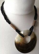 NECKLACE shell beads wood