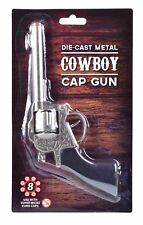 New Metal Toy Cowboy Cap Gun Western Wild West Shot Gun Pistol Fancy Dress
