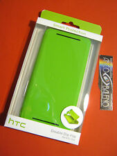 COVER CUSTODIA ORIGINALE IN BLISTER HTC PER ONE M7 DOUBLE DIP FLIP HC V841 VERDE