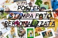 POSTER PERSONALIZZATO VARIE MISURE PLASTIFICATO FOTO REGALO ORIGINALE STAMPA #1