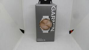 Garmin 010-01850-12 Vivomove HR Hybrid Smartwatch White Silicone Band Rose Gold