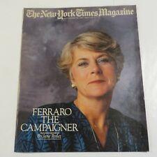 New York Times Magazine September 1984 Ferraro Campaigner PC