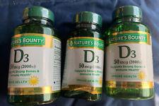 Nature's Bounty - Super Strength Vitamin D3 2000 IU - 630 Softgels EXP4/22 I30