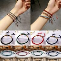 Fashion Women Men Buddhist Love Lucky Charm Tibetan Knot Rope Bracelets Bangles
