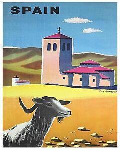 "Spain Art Travel Poster Vintage Spanish Decor Print 12x16"" XR456"