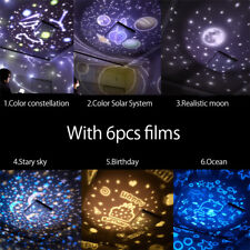 Lumière de nuit pour enfants Étoile Lune Ciel LED Projecteur Lampe pivotante