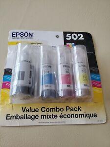 Epson T502 EcoTank Color Combo Pack Auto-Stop Ink Bottle (ET-2700, ET-2750, ET-3