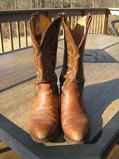 MEN'S NOCONA TWO TONE WESTERN BOOTS SIZE 8D-GREAT USED CONDITION-TAKE A LOOK!