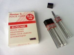 3 Tubes-36 leads-FLAMINGO-HB .5mm EX-POLYMER REFILL LEADS HB .5mm-BARGAIN