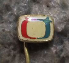Small Ceska Televize CT Czech State Television TV Broadcasting Company Pin Badge