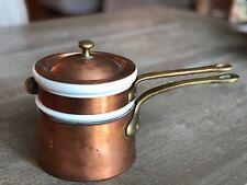 Vintage BAZAR FRANCAIS 666 Copper Double Boiler HALL Ceramic 1083 NEW YORK