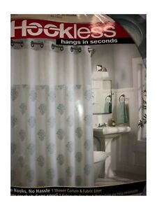"Hookless Shower Curtain 71"" x 74"" in Coral Reef Embroidery"