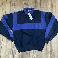 Vintage 1970s Mens McRomes Medium Color Block Pullover Button T Snap NOS NWT