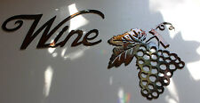 Metal Wall Art Decor small Grape Bushel & Wine Wall Accents