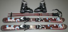 "ROSSIGNOL FUN GIRL Youth Ski Set Package; 110cm Skis, 246mm Boots, and 37"" Skis"