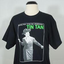 TIN TAN Ni Muy Muy... Mexico Black Shirt Short Sleeves Men's size L