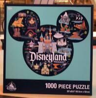 Splash Mountain Disneyland Puzzle Mickey Icon Park Map 1000 Pieces