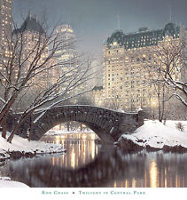 Twilight In Central Park Rod Chase New York Print 30x32