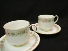 Vintage Paragon / Royal Albert china Belinda Tea cups and saucers  x 2