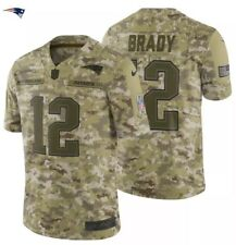 Tom Brady Nike 2018 Salute to Service Limited Jersey Patriots Army Camouflage Xl