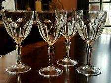 "CRISTAL D'ARQUES-DURAND WASHINGTON  Water GLASS CUT PANELS 7 1/4"" 11 oz Set of 4"